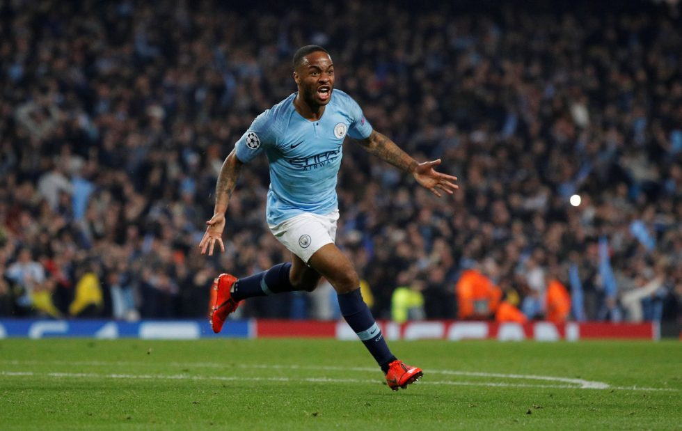 Fastest Manchester City players - Sterling