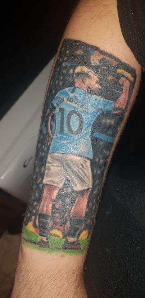 Man City tattoo Aguero