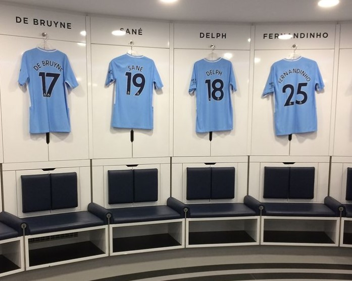 Manchester City Players Pictures - Dressing Room