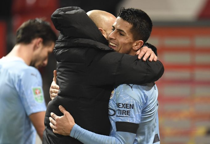 Ilkay Gundogan applauds Cancelo for his new role